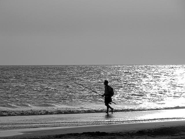 Pescador en Playa de Conil